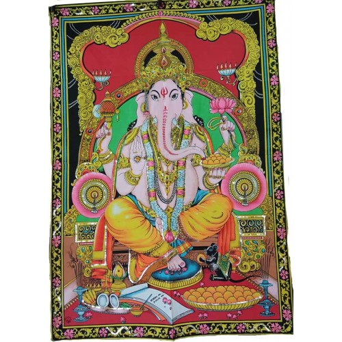 "30"" x 40"" Ganesha Multi Color tapestry"