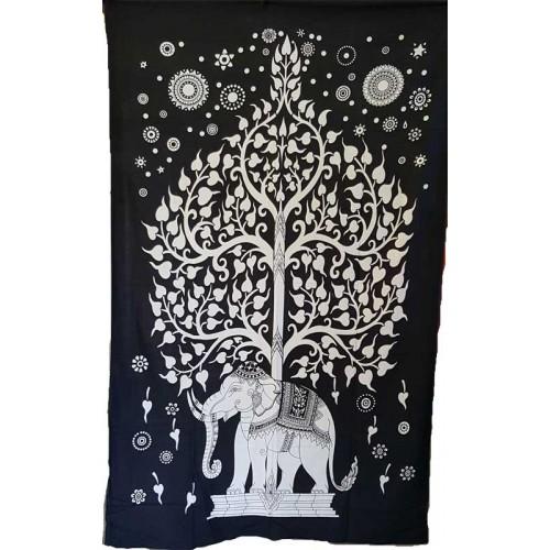 "54"" x 86"" Elephant Tree tapestry"