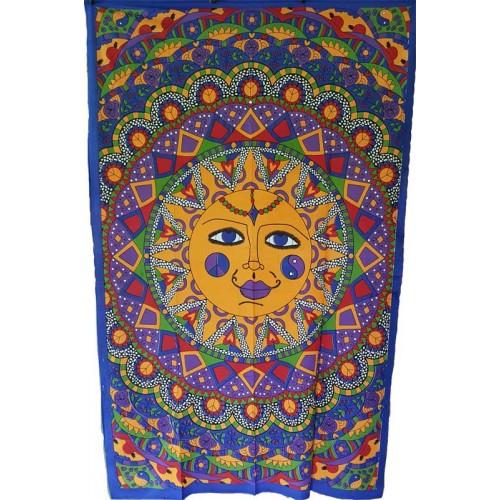 "54"" x 86"" Sun Multi Color tapestry"