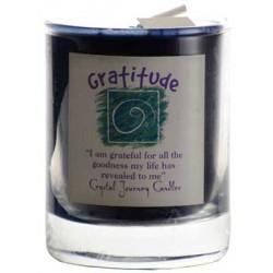Gratitude soy votive candle