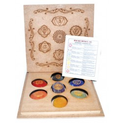 Sanskrit Chakra set with box