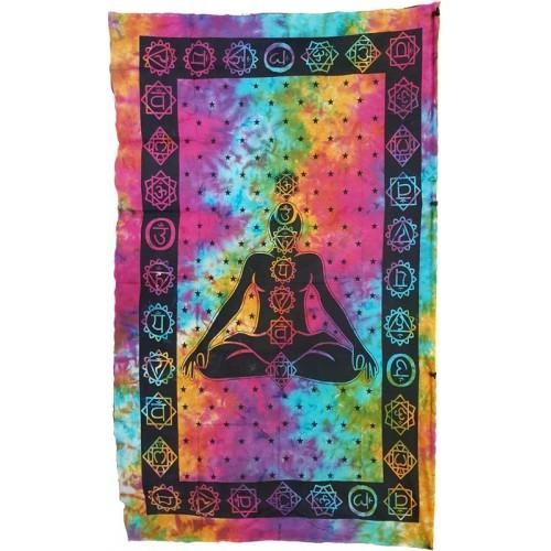 "Seven Chakra tapestry 54"" x 86"""