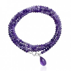 Amethyst Stress Relief Wrap Bracelet