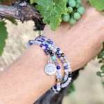 Chakra Wrap Bracelet with Lotus Flower and Gemstones to Release Emotional