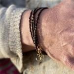 Copper Bronze Wrap Bracelet with Ohm Charm