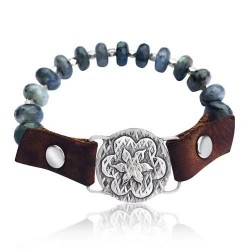 I Choose Happiness Labradorite Visualization Bracelet
