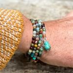 Mindfulness Chakra Wrap Bracelet with Healing Stones
