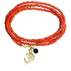 Orange Wrap Bracelet with Ohm for Creativity