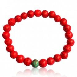 Red Wanderlust Turquoise Howlite Mala Bracelet