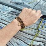 Tiger Eye Wrap Bracelet for Focus - Gold
